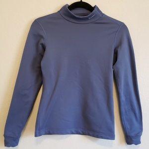 NIKE Dri Fit Fleece Lined Mock Neck Shirt